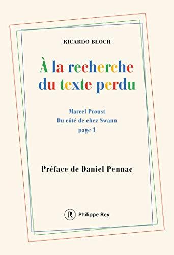 Amazon Com A La Recherche Du Texte Perdu French Edition