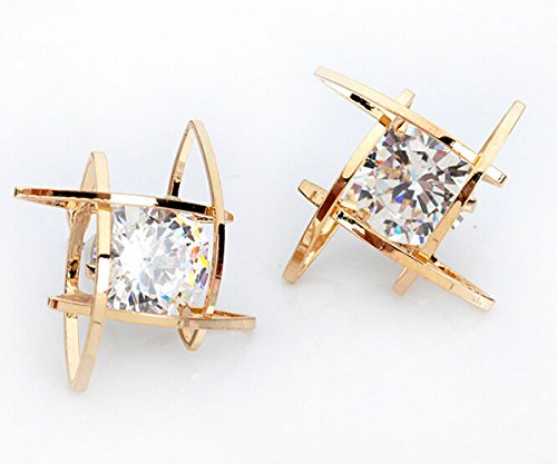 Swarovsky Element Crystal Diamond Earrings