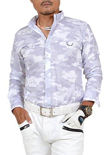 【コモンゴルフ】 COMON GOLF 吸水速乾 オープンタイプ 長袖 ゴルフ ポロシャツ CG-LP710N L color:C