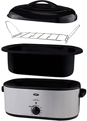 Electric Roaster Oven 22-Quart Capacity Versatile Slow Cooker Self-Basting Bake Roast Turkey Chicken And Much More