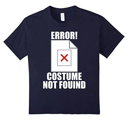 Kids Error Costume Not Found - Image Not Found Joke Halloween Tee 12 Navy - 404 Error Costume Not Found Image