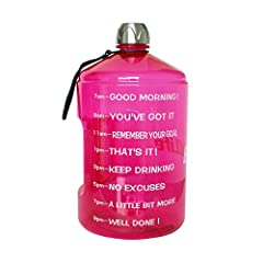 Product Name:BuildLife 1 Gallon/43oz Sports Large Capacity Water Jug with HandleBrand Name:BuildLifeCapacity:1 gallon/43ozMaterial:PETGFeatures:1,Visual ReminderI:Seeing this all day is a constant reminder to stay on track with your hydration...