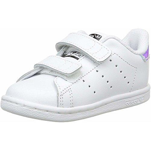 adidas Originals Stan Smith CF I White/Iridescent Leather 8.5 M US Infant