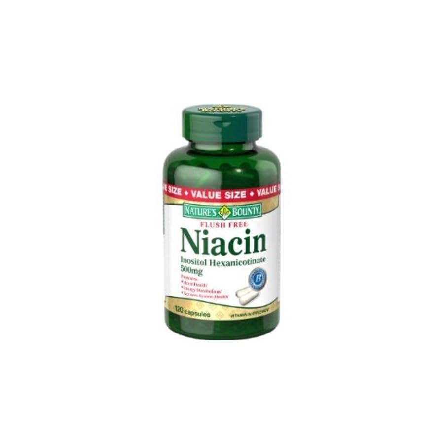 Nature's Bounty Flush Free Niacin 500 Mg