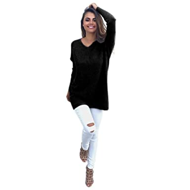 A Ling V Neck Sweater Womens Off The Shoulder Oversized Pullover At