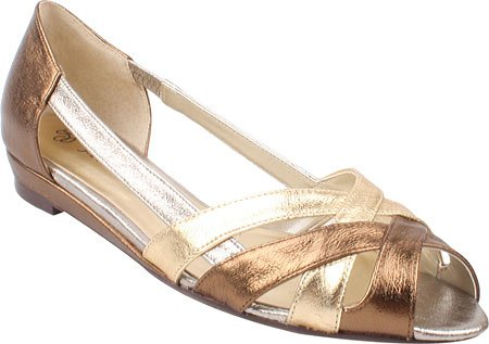 J. Renee Women's Cori Sandals,Metallic Multi Nappa Leather,6.5 W US