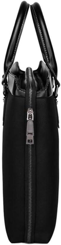 Zhouminli Vintage Leather Tote Briefcase Mens Business Briefcase Bag Handbag Oxford Cloth 14 Inch Computer Bag