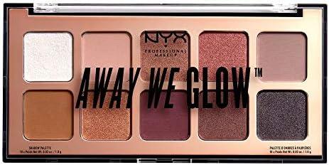 NYX PROFESSIONAL MAKEUP Away We Glow Shadow Palette, Lovebeam 01
