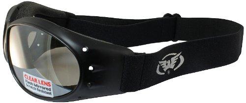 Global Vision Eliminator Motorcycle Goggles (Black Frame/Clear Mirror Lens)
