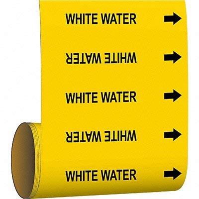 Brady Pipe Marker White Water Yellow
