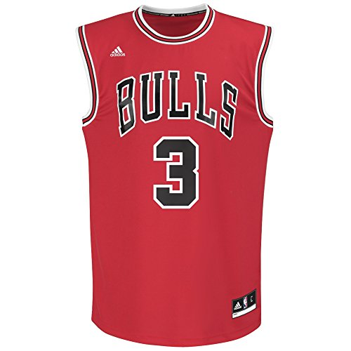 NBA Men's Chicago Bulls Dwayne Wade Replica Player Road Jersey, 2X-Large, Red