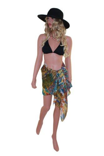 Tamari Tropical Print Sarong Cover up beach Wrap One Größe