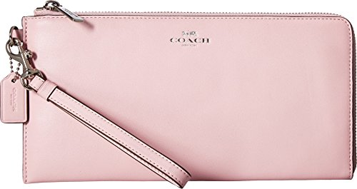 COACH Women's Darcy Leather Holdall Wallet Petal (Pink Leather Holdall)