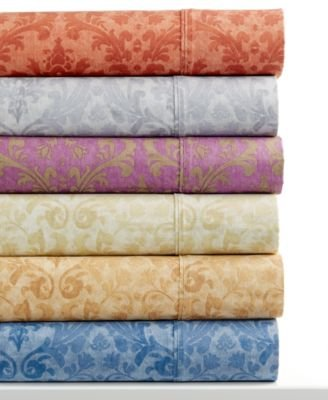 Glenmore Collection - Luxury Twill GLENMORE COLLECTION 320 Thread Count CAL KING Sheet Set: Burnt Umber Paisley