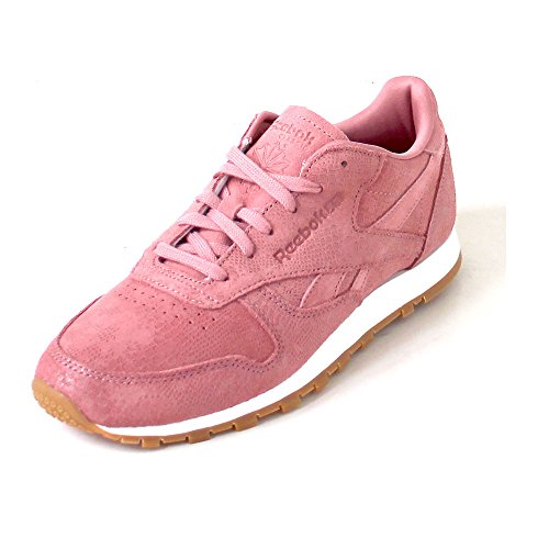 d536819c953 Reebok Classic Leather Clean Exotics Womens Sneakers Pink on sale ...