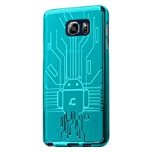 Galaxy Note 5 Case, Cruzerlite Bugdroid Circuit TPU Case Compatible for Samsung Galaxy Note 5 - Teal
