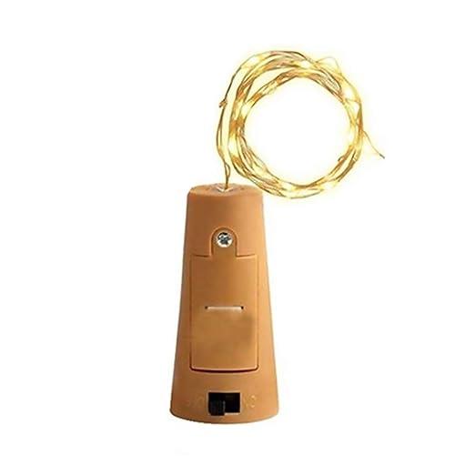 Cadenas de luz Bombilla Corcho batería Tiras LED Velas de luz Warm White Botella de Vino