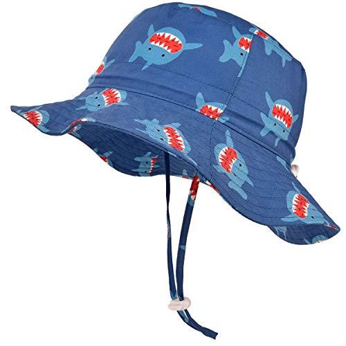 5a42109365fdd SOMALER Sun Bucket Hats for Kids Boys Girls UV UPF 50+ Sun Protection Hats  Wide