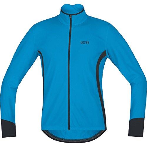 (GORE WEAR Men's Breathable Long Sleeve Jersey, C5 Thermo Jersey, XL, Dynamic Cyan/Black, 100369)