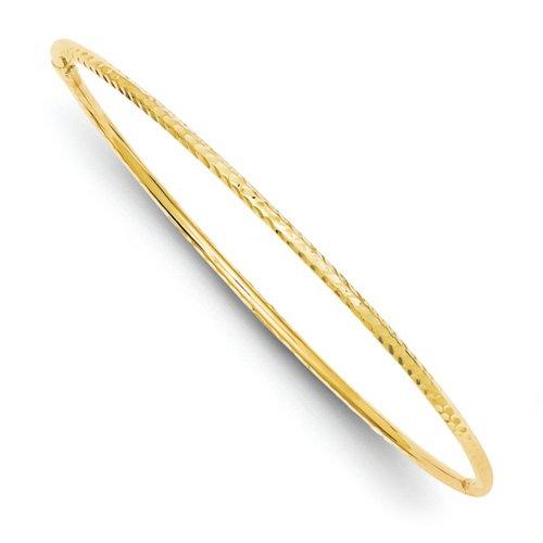 Icecarats Créatrice De Bijoux 14K Tube De 2Mm Diamantée Slip-On Bracelet