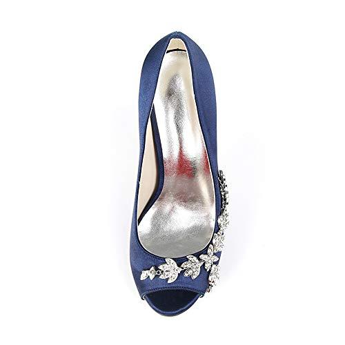 Slip Multicolore Donna Moojm Con Bocca Alti Silver Donna Da Di 11cms Toe Seta Tacchi Sandali BfWBnPqT