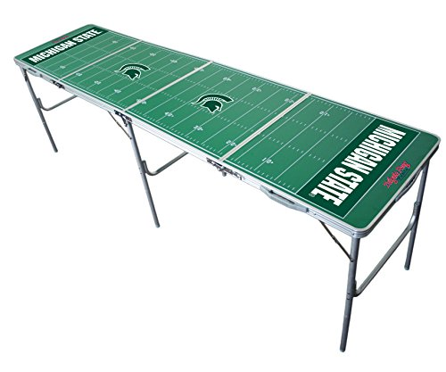 Michigan State Spartans 2x8 Tailgate Table by Wild Sports (Michigan Game Table)