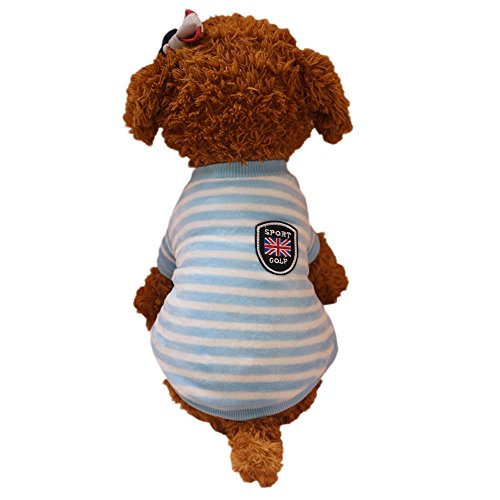 Puppy Clothes,2017 New Hot Sale Warm Comfortable Pet Clothes Autumn Winter New Dog Flannel Clothing by Neartime (XL, Blue) -
