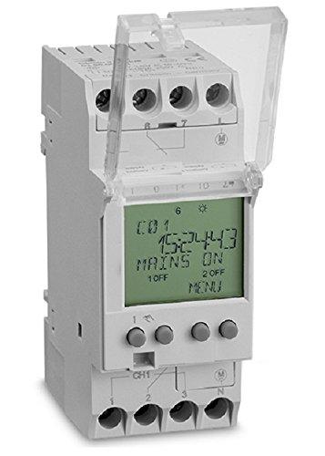 Aeg AUN666350 - Reloj digital para la caja del interruptor temporizador semanal