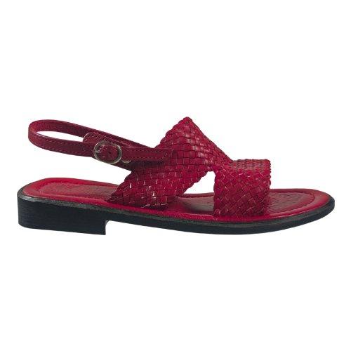 Andrea Doria 32100-770 Damen Schuhe Premium Qualität Sandale Rot (Rot)