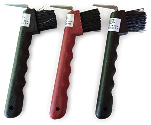 Hoof Pick with Brush - Set of 3 - Assorted Colors