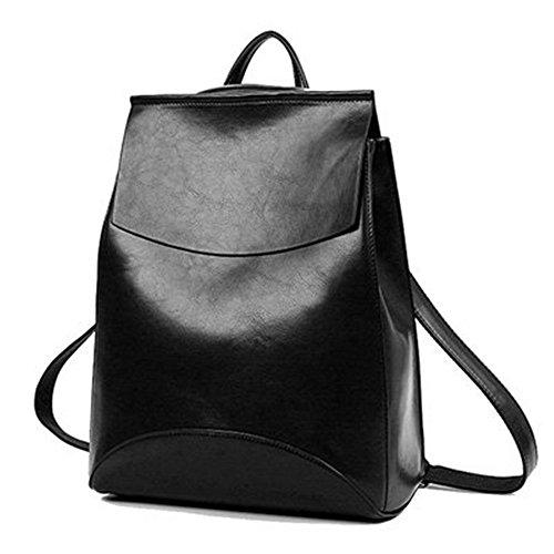 Mefly Estate marca zaino Vintage donne pelle Pu Donna nello zaino di alta qualità Scuola Softback sacchetti per adolescenti,Black,Cina