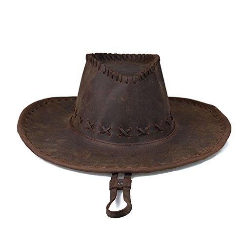 (Genuine Crazy Horse Leather Western Cowboy)