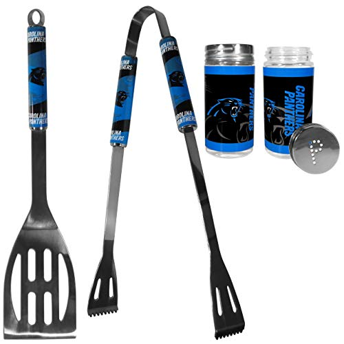 (NFL Carolina Panthers 2pc BBQ Set with Tailgate Salt & Pepper Shakers )