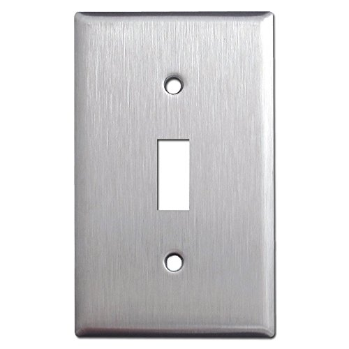 Brushed Satin Nickel Stainless Steel Wall Covers Switch Plates & Outlet Covers (Single Toggle)