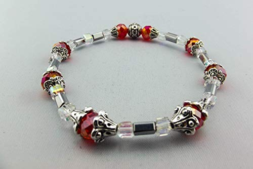 Stretch Bracelet - Red - Orange