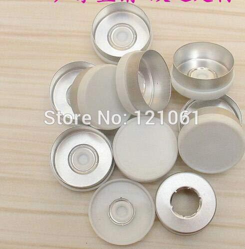 Pukido 20mm flip Off Cap,200pcs/lot! White Colored Flip Off Caps, Pharmaceutical caps,flip Off Tops for Crimp Glass Vial - (Color: White)