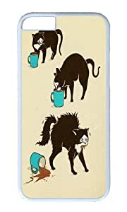 Apple Iphone 6 Case,WENJORS Awesome Coffee Cat Hard Case Protective Shell Cell Phone Cover For Apple Iphone 6 (4.7 Inch) - PC White