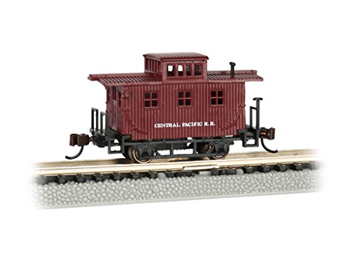 Bachmann Old-Time Caboose - Central Pacific - N Scale, Prototypical Oxide Red