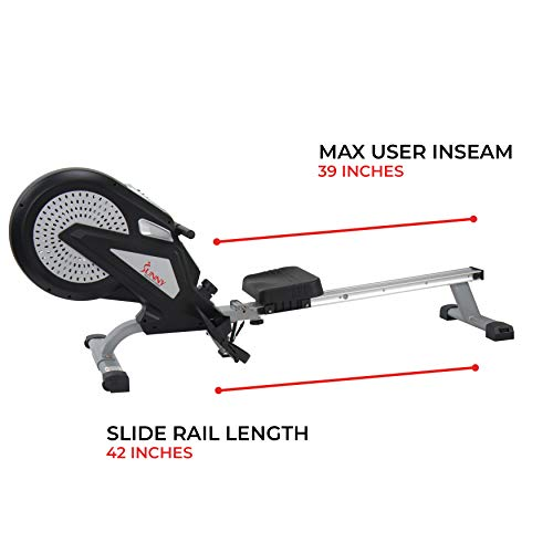 Sunny Health & Fitness SF-RW5623 Air Rowing Machine Rower w/ LCD Monitor by Sunny Health & Fitness (Image #20)