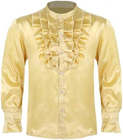 dPois Camisa con Jabot Volantes para Hombre Camisa Gótica de Esmoquin Vintage Traje de Fiesta Boda Ceremonia Disfraz de Halloween Cosplay M-XXL: Amazon.es: Ropa y accesorios