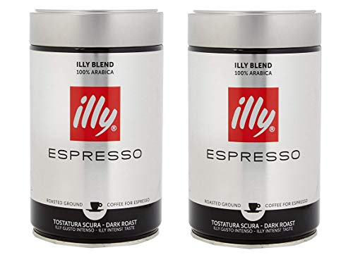 illy Ground Espresso Coffee Dark Roast, 100% Arabica Coffee...