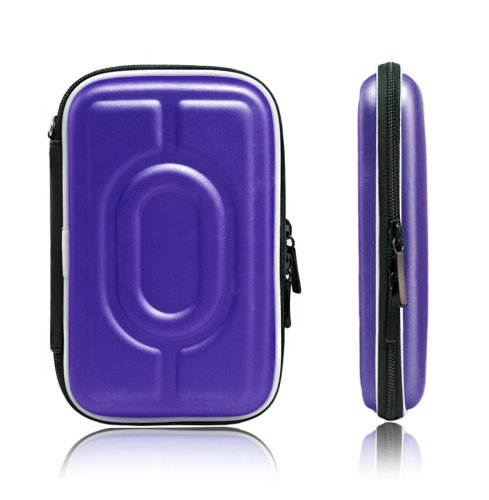 Xcessor Protectron T5 2.5 Funda Carcasa HDD de Disco Duro Portátil. Bolsa de Protección Con Textura De La Flor. Azul. morado
