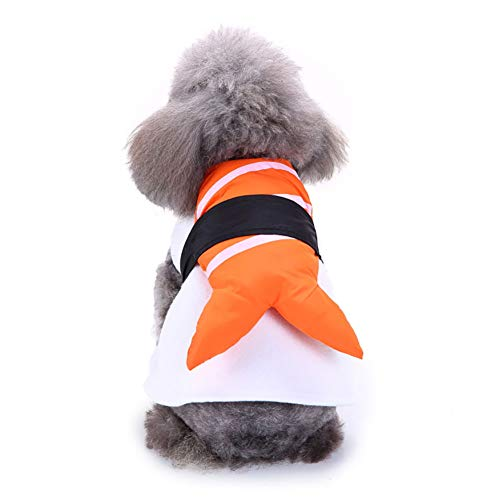 Braceus Funny Creative Salmon Sushi Pattern Pet Outfit Clothes Warm Wrap Dog Cat Halloween Christmas Costume M ()