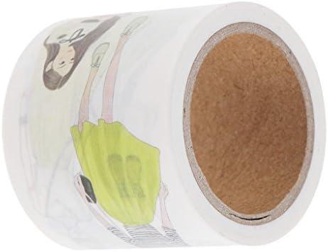 和紙テープ マスキングテープ DIY飾りテープ 幅40mm×7m かわいい少女 手帳飾り