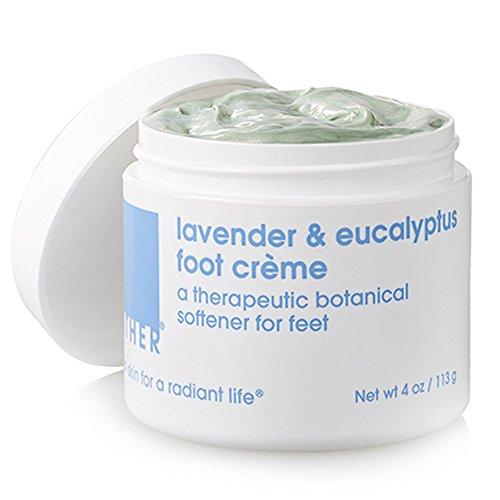LATHER Lavender & Eucalyptus Foot Crème, 4 Ounce Jar (Foot Face Creme)