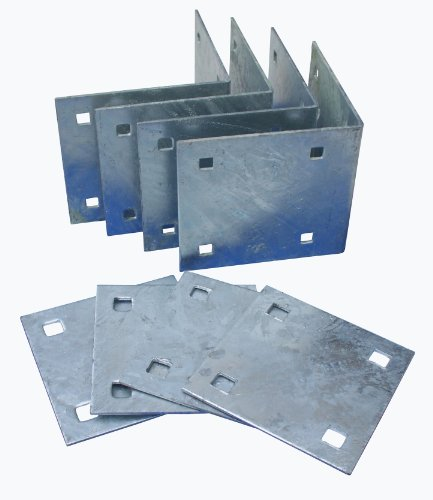 Dock Edge Howell Dock Hardware Stationary Inside Corner Kit with 4 Inside Corners and 4 Backer - Stationary Dock