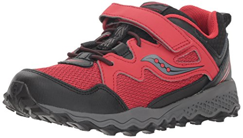 Saucony Boys' Peregrine Shield 2 A/C Sneaker, red/Black, 13 Medium US Little Kid (Saucony Kids Shoes)