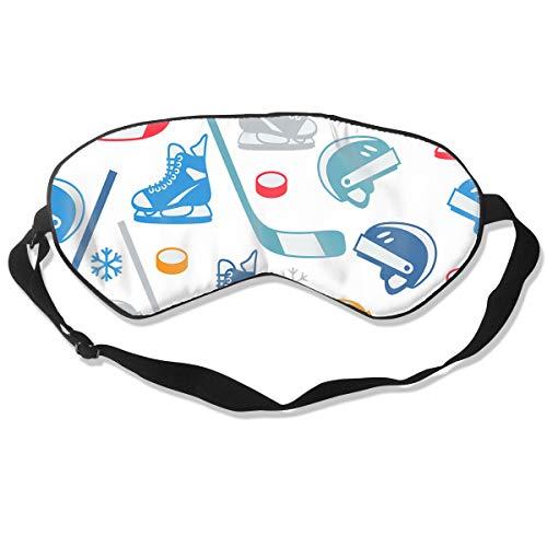Homlife Sleep Mask 100% Silk Eye Mask Ice Hockey Equipment Elements Eye Cover Sleeping Mask for Travelling, Night Noon Nap, Mediation Or Yoga