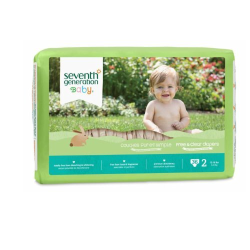 Seventh Generation Baby Free and Clear Diapers Stage 2: 12-1