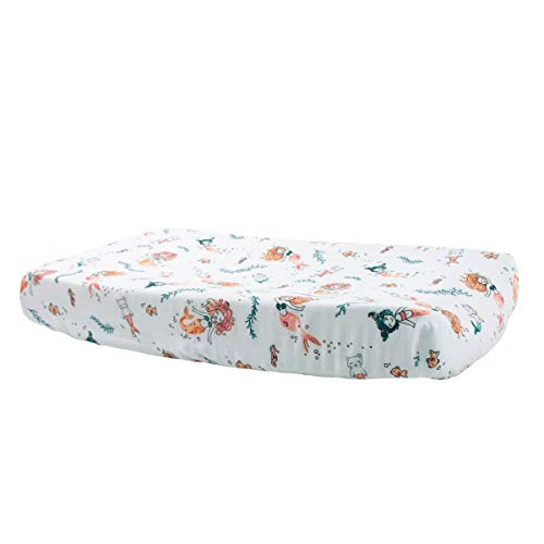 Bebe au Lait Oh So Soft Muslin Changing Pad Cover - Mermaids